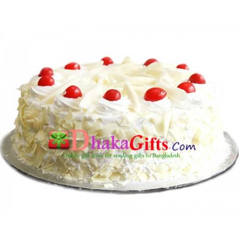 send mr.baker white forest round cake to dhaka