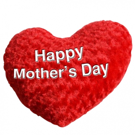 send mothers day heart shaped pillow to dhaka