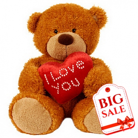 Send Small Size Bear with Love Heart to Dhaka