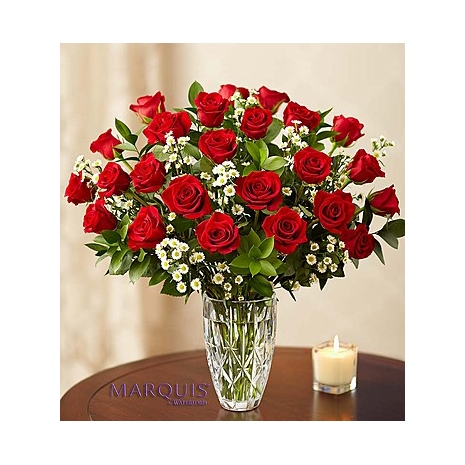 Send Beautiful Love 24 Red Roses with FREE vase to Dhaka in Bangladesh