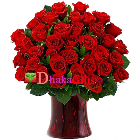 Send Three Dozen Long Stemmed Red Roses to Dhaka in Bangladesh